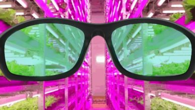 Led grow light glasses